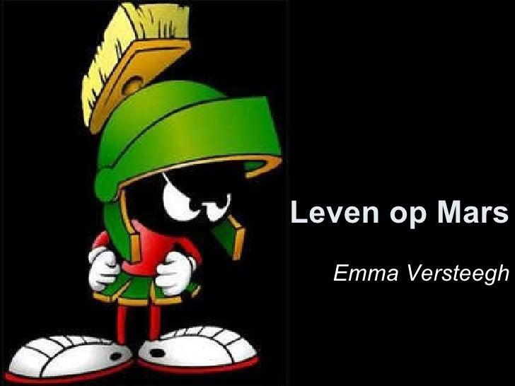 Leven op Mars Emma Versteegh