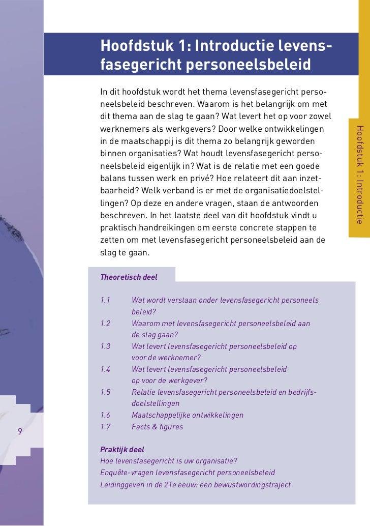 Hoofdstuk 1: Introductie levens-    fasegericht personeelsbeleid    In dit hoofdstuk wordt het thema levensfasegericht per...