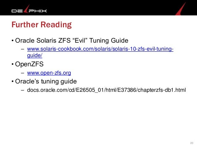 Zfs evil tuning guide