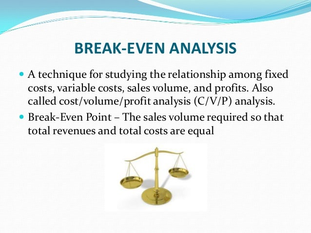cost volume profit relationship analysis chart