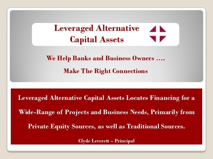 Leveraged Alternative Capital Assets Master04232011 - 웹