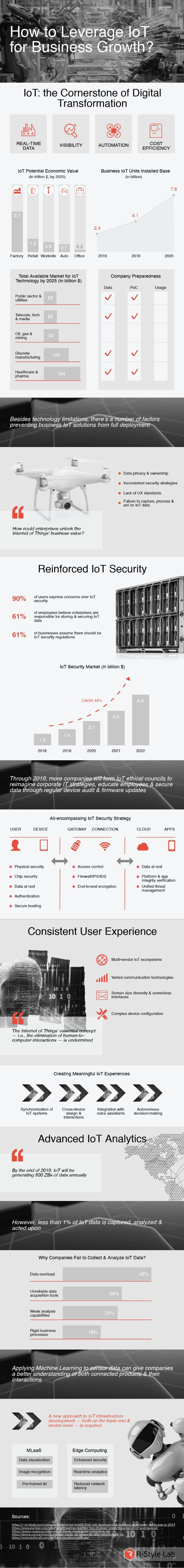 How to Leverage IoT for Business Growth: Infographic
