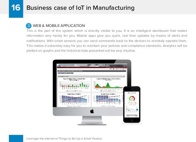 Business case of IoT in Manufacturing16 Leverage the Internet of Things to Set Up a Smart Factory 3 WEB & MOBILE APPLICATI...