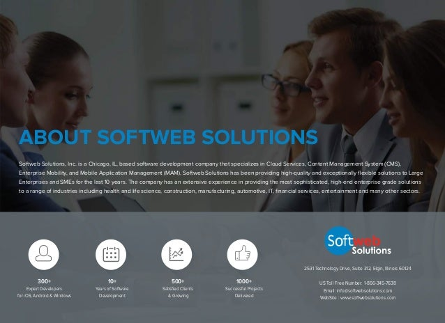 Softweb Solutions, Inc. is a Chicago, IL, based software development company that specializes in Cloud Services, Content M...