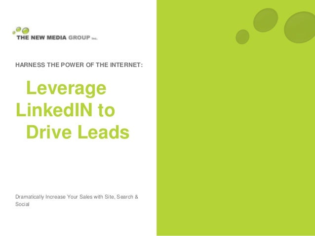 Dramatically Increase Your Sales with Site, Search & Social HARNESS THE POWER OF THE INTERNET: Leverage LinkedIN to Drive ...