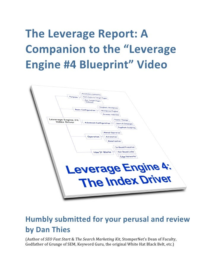 "The Leverage Report: A  Companion to the ""Leverage  Engine #4 Blueprint"" Video                                            ..."