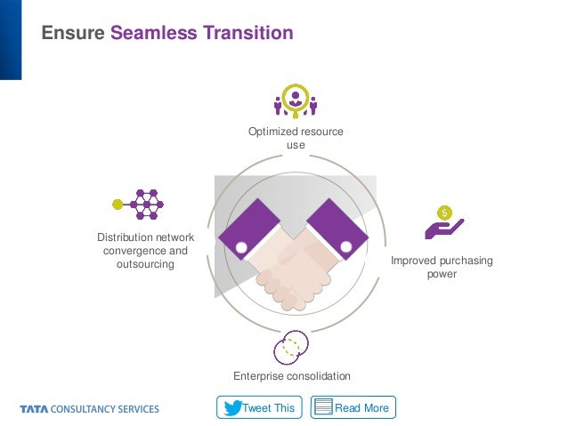 Ensure Seamless Transition Distribution network convergence and outsourcing Optimized resource use Improved purchasing pow...