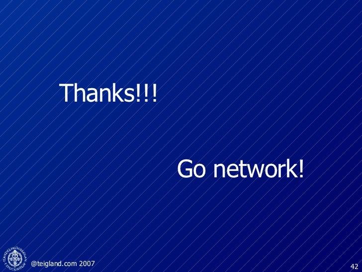 Go network! Thanks!!!