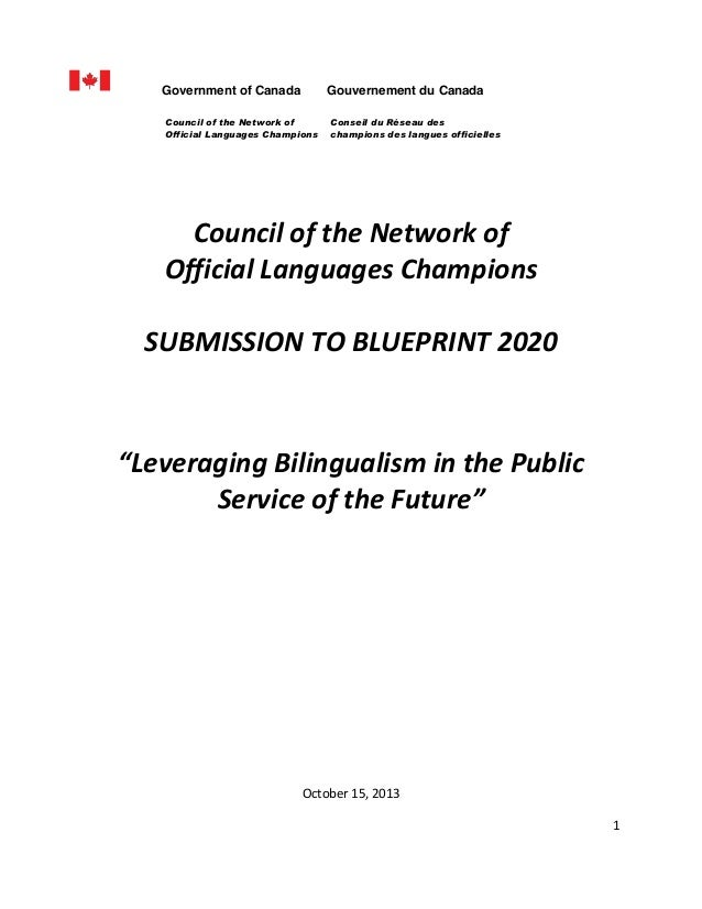 Government of Canada  Gouvernement du Canada  Council of the Network of Official Languages Champions       Conseil du Ré...