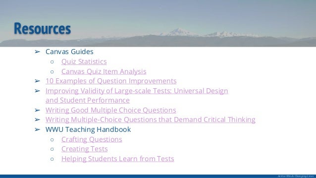 Leveraging Canvas Quiz Analysis to Improve Your Online Assessments