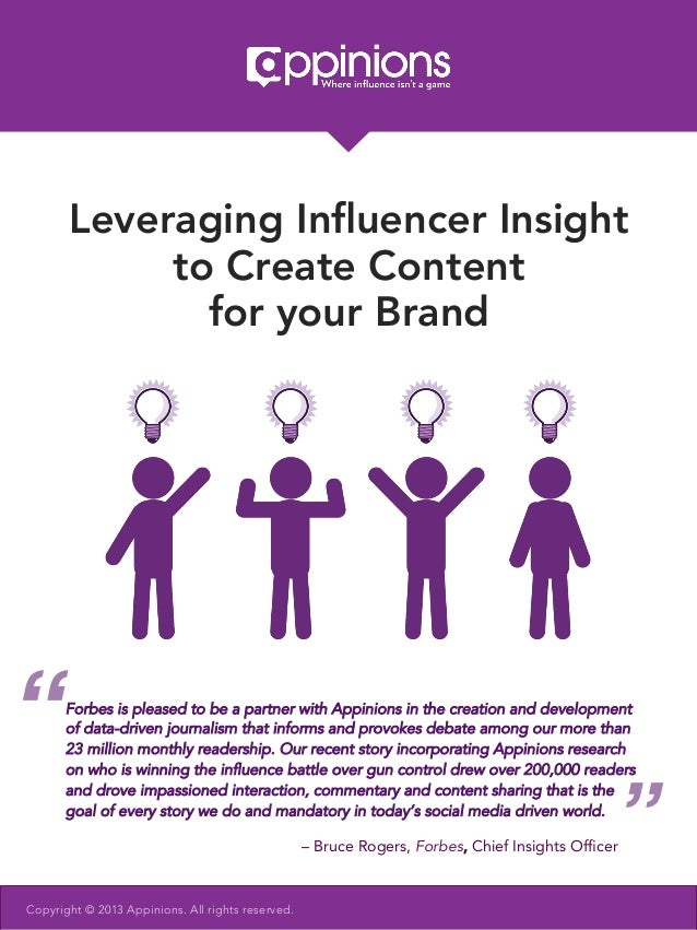 "Leveraging Influencer Insight            to Create Content              for your Brand""     Forbes is pleased to be a partn..."
