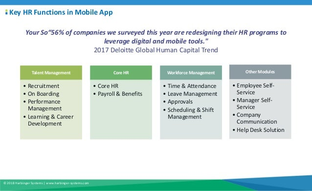 Leveraging mobile capabilities in your HR application Slide 2