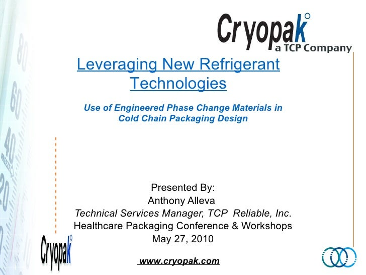 Use of Engineered Phase Change Materials in Cold Chain Packaging Design Presented By: Anthony Alleva  Technical Services M...