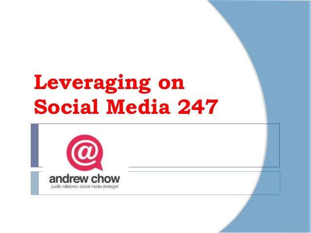 Leveraging onSocial Media 247