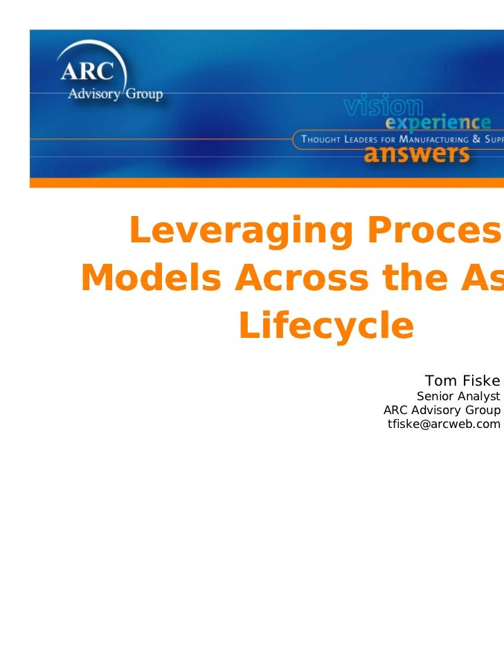 Leveraging P  L       i  ProcessModels Across the Asset       Lifecycle                     Tom Fiske                     ...
