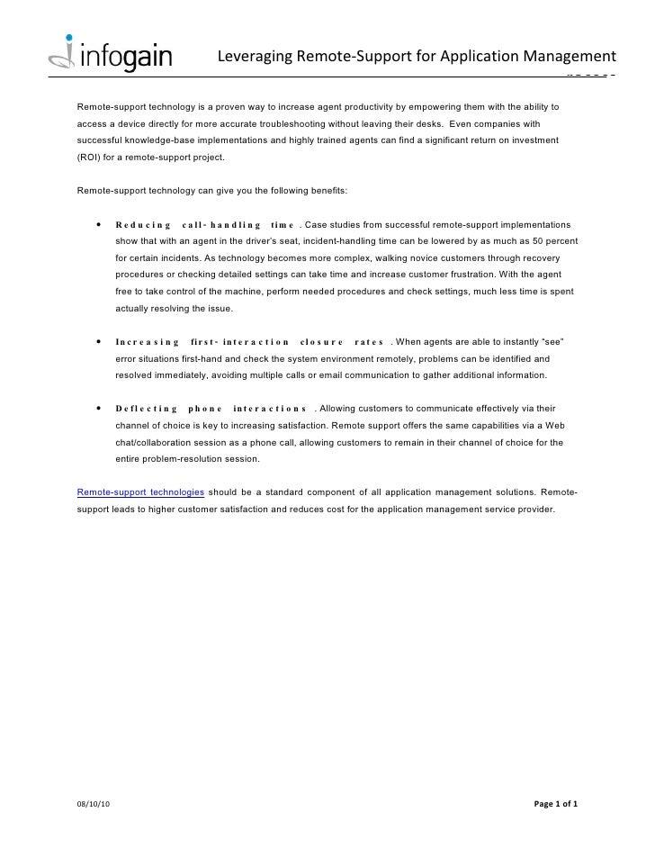 Leveraging Remote-Support for Application Management                                                                      ...