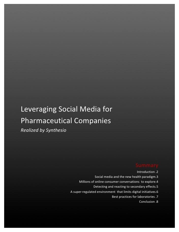 Leveraging social media for pharmaceutical companies
