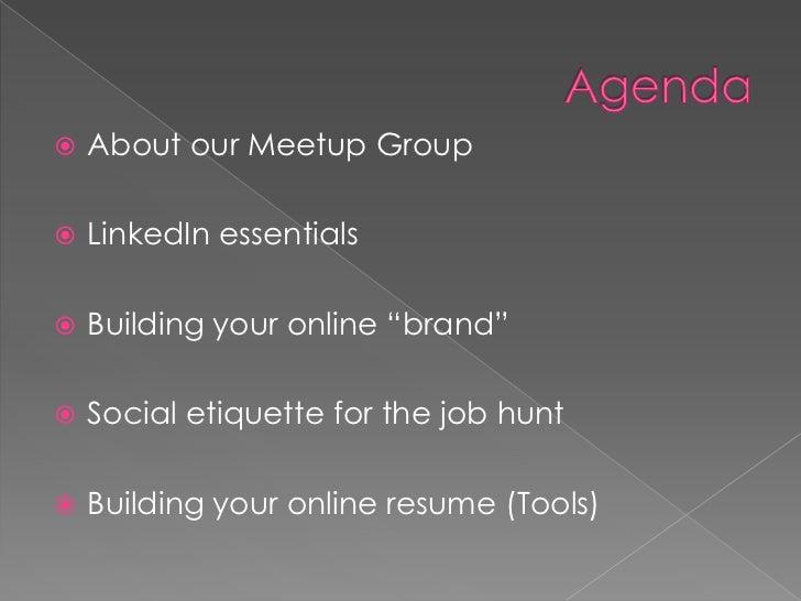 Leveraging social media for your job hunt  Slide 3