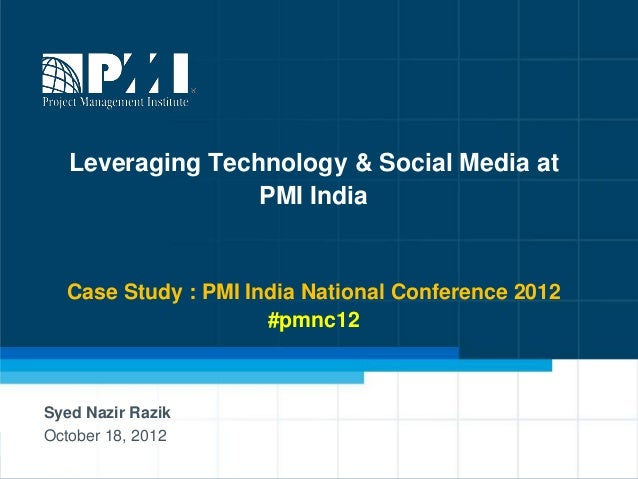Leveraging technology tools and social media at pmi india