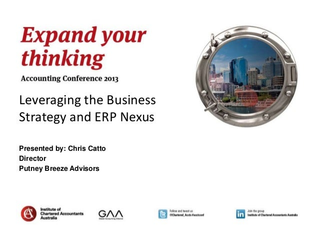 Leveraging the BusinessStrategy and ERP NexusPresented by: Chris CattoDirectorPutney Breeze Advisors