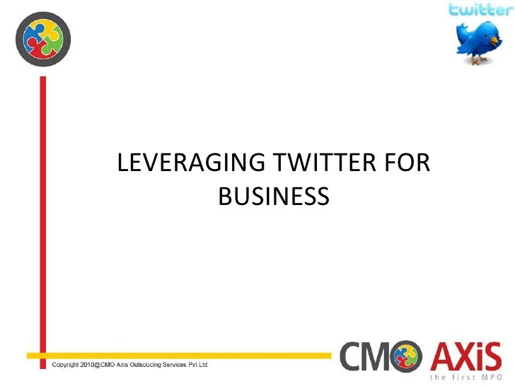 Leveraging Twitter for Business<br />