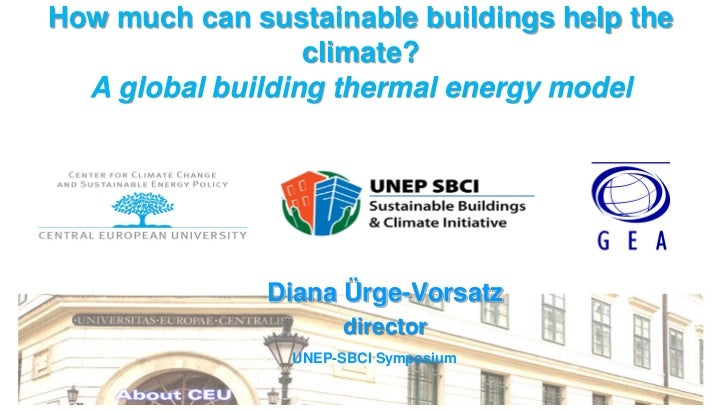 How much can sustainable buildings help the                  climate?  A global building thermal energy model             ...