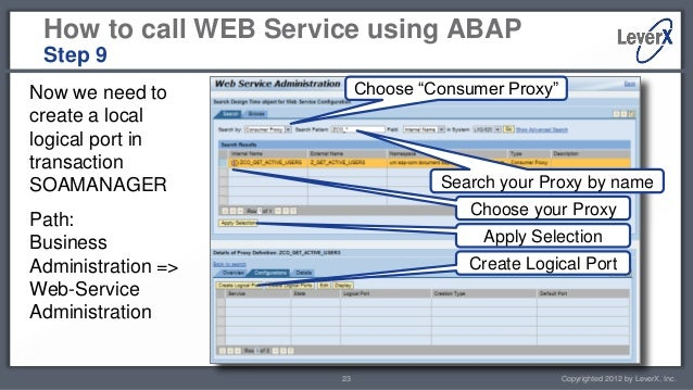 LeverX SAP ABAP Tutorial - Creating and Calling Web Services