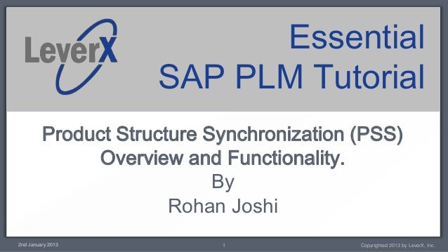 Essential                     SAP PLM Tutorial         Product Structure Synchronization (PSS)              Overview and F...