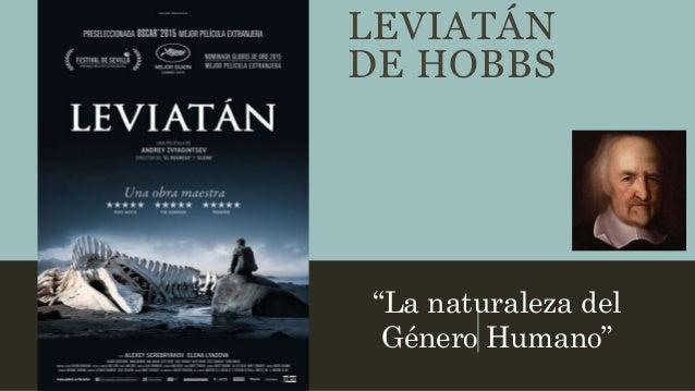 """LEVIATÁN DE HOBBS """"La naturaleza del Género Humano"""""""