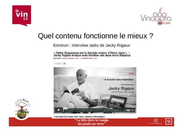 Quel contenu fonctionne le mieux ?    Emotion : interview radio de Jacky Rigaux