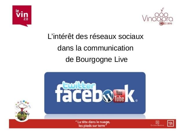 L'intérêt des réseaux sociaux   dans la communication     de Bourgogne Live