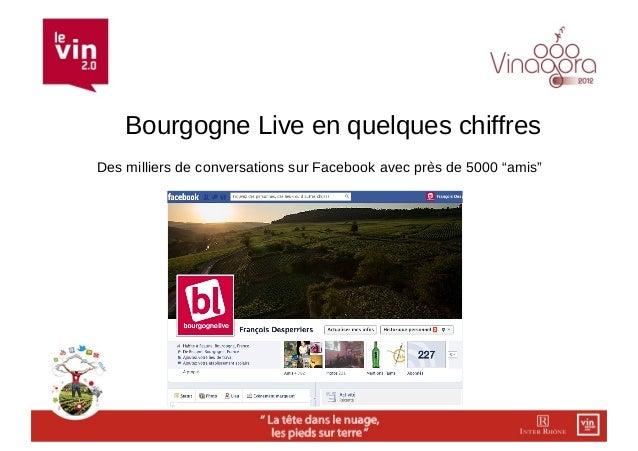 """Bourgogne Live en quelques chiffresDes milliers de conversations sur Facebook avec près de 5000 """"amis"""""""