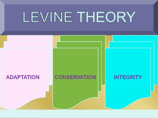 myra estrine levine s conservation theory 5 theory overview myra estrin levine proposed four principles of conservation  the process by which conservation is achieved is adaptation and the desired.