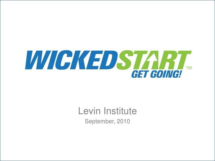 Levin Institute<br />September, 2010<br />