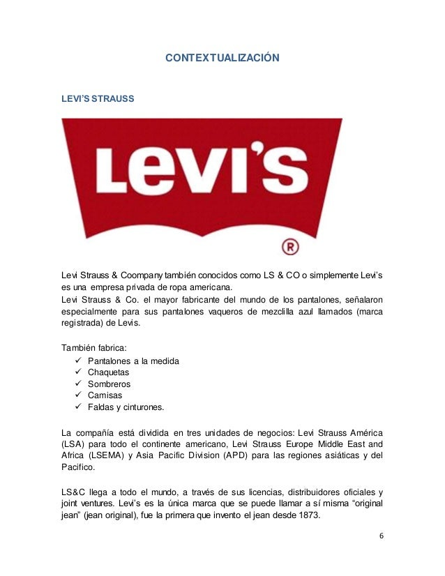 b4885198bf ... 6. 6 CONTEXTUALIZACIÓN LEVI S STRAUSS ...