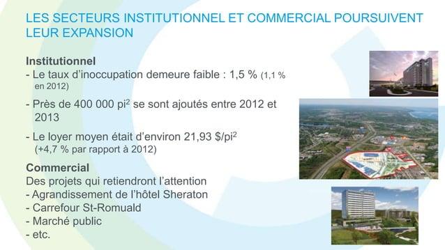 LE MARCHÉ RÉSIDENTIEL SE DÉTEND - Lévis dénombrait 549 mises en chantier pour les 9 premiers mois de 2013 (696 en 2012)  -...