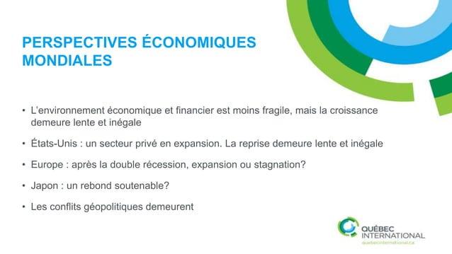 PERSPECTIVES CANADIENNES La transition est laborieuse - L'économie canadienne est entrée dans une période de transition où...