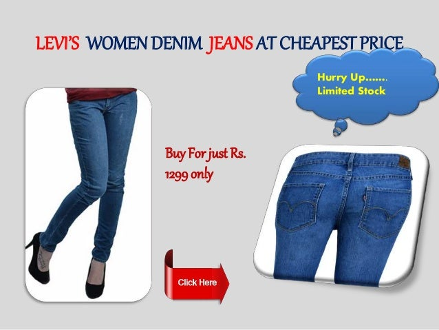 Levi's Men & Women Denim Jeans Online