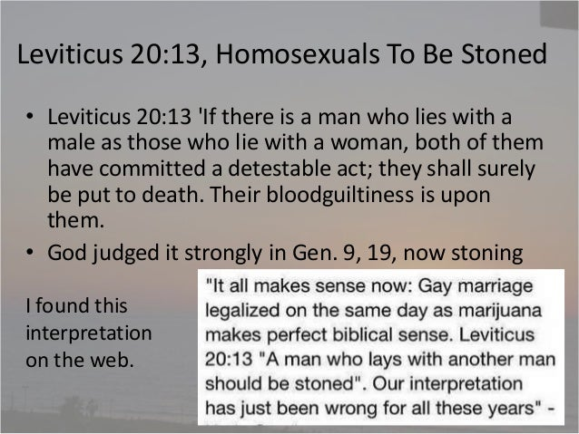 Leviticus homosexuality death
