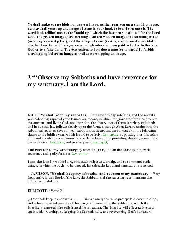 Leviticus 26 commentary