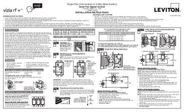 Leviton Vrf01 1 Lz Product Manual And Setup Guide