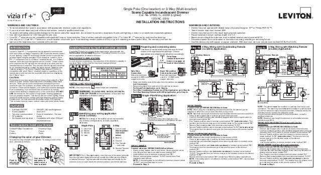 Leviton Vri06 1 Lz Product Manual And Setup Guide
