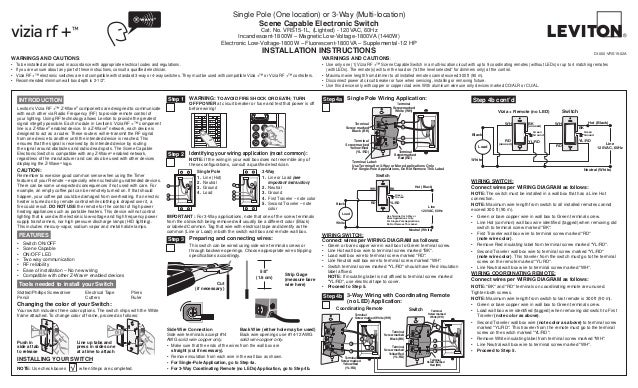 Leviton Vrs Lz Installation Manual And Setup Guide