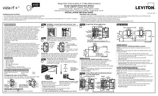 Diagram Leviton Vrs15 1 Lz Installation Manual And Setup Guide