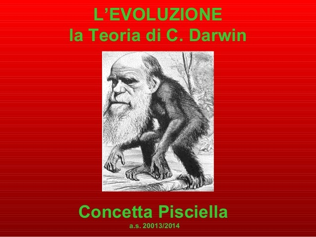 L'EVOLUZIONE la Teoria di C. Darwin Concetta Pisciella a.s. 20013/2014