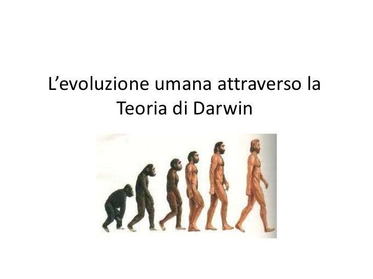 L'evoluzione umana attraverso la         Teoria di Darwin