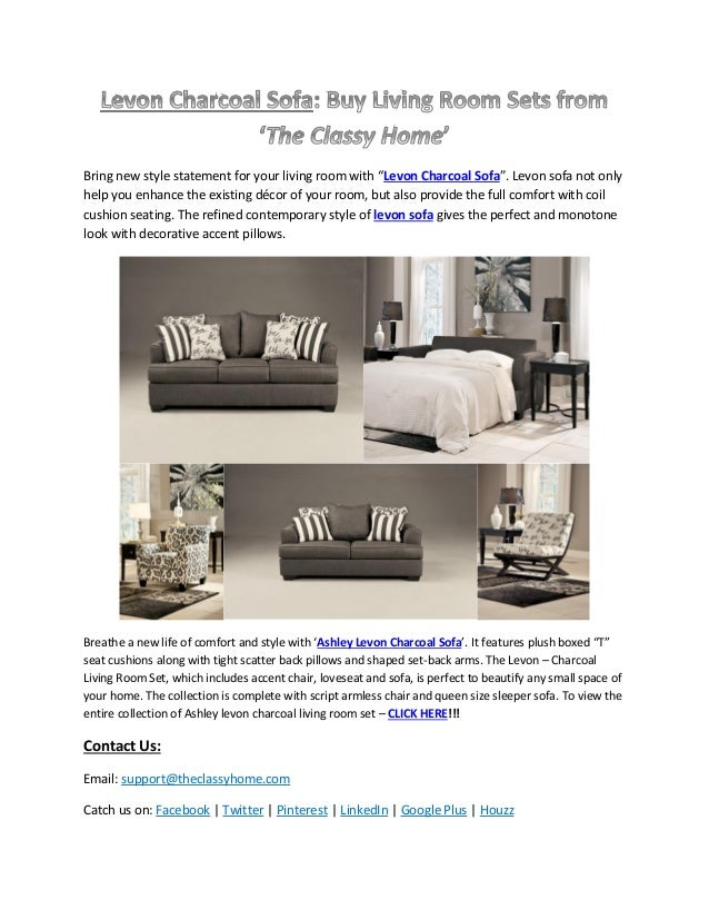 classy home furniture. Bring New Style Statement For Your Living Room With \u201cLevon Charcoal Sofa\u201d. Levon Classy Home Furniture R