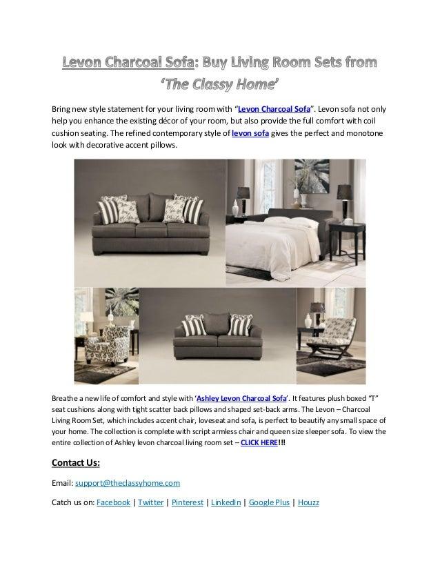 Ashley Levon Charcoal Sofa Living Room Sets The Classy Home