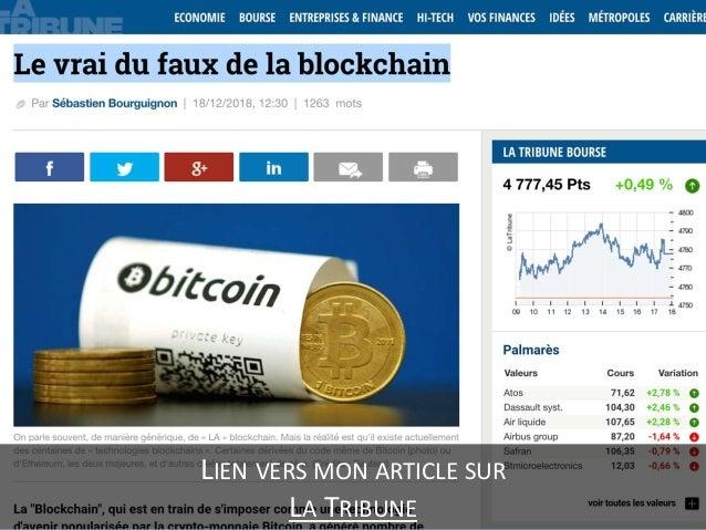 Le vrai du faux de la blockchain Slide 3