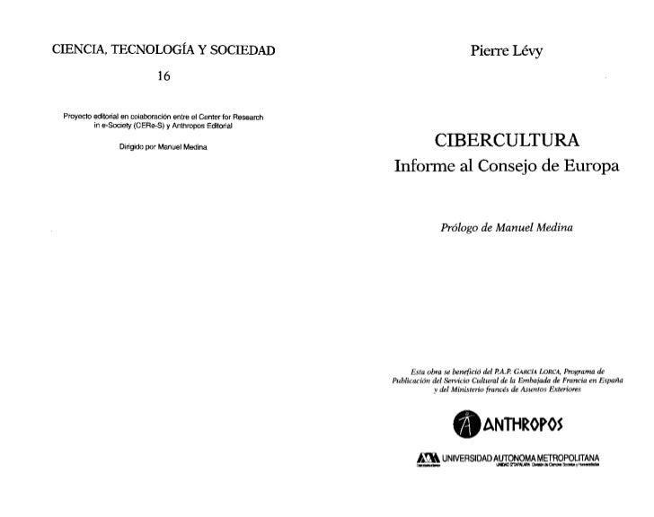 CIENCIA, TECNOLOGÍA Y SOCIEDAD                                                            PierreLévy                      ...